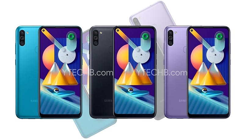 Samsung Galaxy M11 renders spotted online along with specs